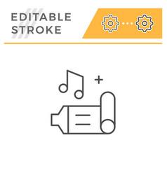 birthday whistle line icon vector image