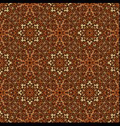 Brown seamless bohemian gravel mosaic ethno vector