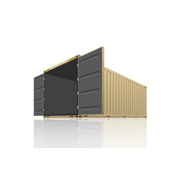 cargo container design vector image