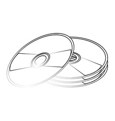 cd compact disk icon image vector image