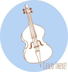 Cello There vector