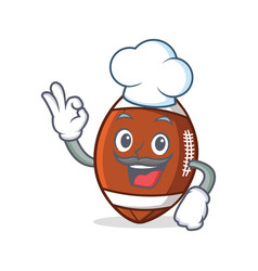 chef american football character cartoon vector image