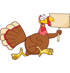 Christmas and thanksgiving turkey cartoon vector image