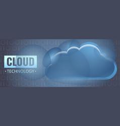 cloud technology concept banner cartoon style vector image