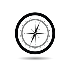 compass black vector image