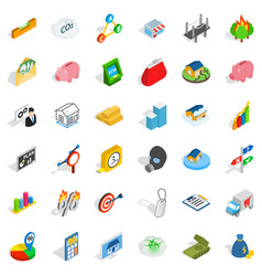 contact us icons set isometric style vector image