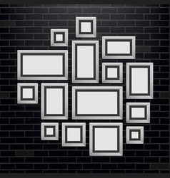 Creative of wall picture vector