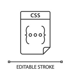 Css file linear icon cascading style sheets vector