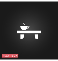 Cup on the table icon vector