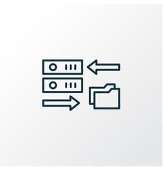 Data migration icon line symbol premium quality vector