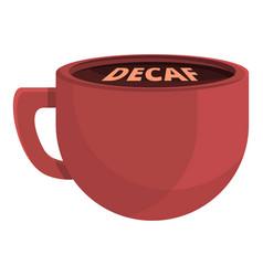 Decaf cup icon cartoon style vector