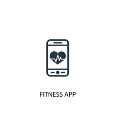 fitness app icon simple element vector image