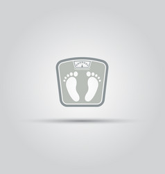 Floor scales isolated icon vector