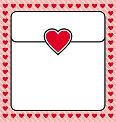 Frame border red heart design for valentine vector image