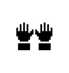 Gardening gloves pixel icon clothes vector