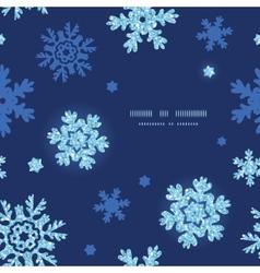 glitter snowflakes dark circle frame seamless vector image