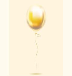 gold foil transparent balloon golden sphere vector image