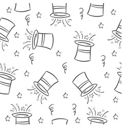 Hat circus pattern style collection vector