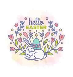 Hello easter card design vector