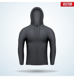 Hoodie black design templates vector