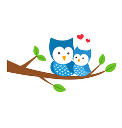 Isolated owl sitting on a branch vector