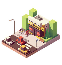 Isometric photo printing shop vector