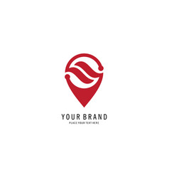 linear concept pin location logo vector image