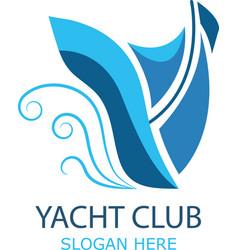 logo sailboat vector image