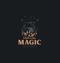 magic cauldron a magical potion vector image