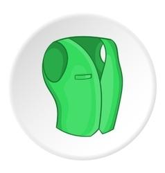 Men classic vest icon cartoon style vector image