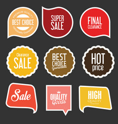 Modern sale stickers and tags collection 7 vector