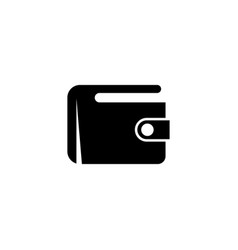 money wallet digital purse flat icon vector image