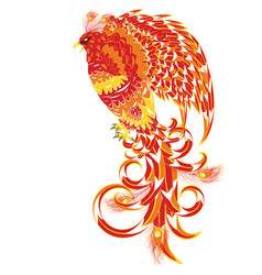 Mythical phoenix bird vector