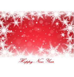 New year snowflakes and snowdrift vector