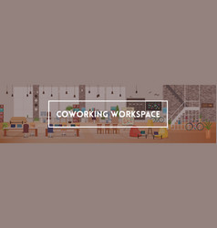 office interior coworking workspace vector image
