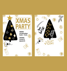 party poster merry christmas holiday club vector image