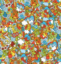 pattern summer holiday vector image