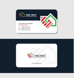 Property management business card vector