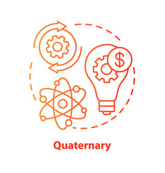 Quaternary red concept icon knowledge sector idea vector