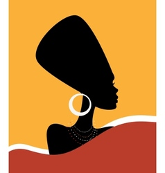 Queen Nefertiti vector image