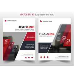 Red abstract infographic annual report brochure vector