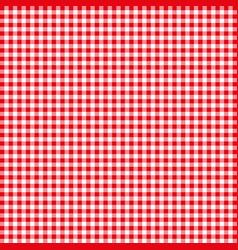 red tablecloths patterns on the background vector image