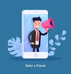 Refer a friend concept vector
