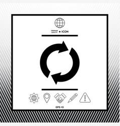 reset button reload arrows vector image