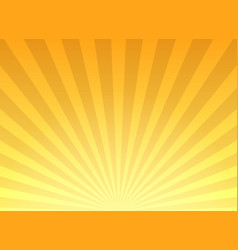retro yellow sunburst background vector image