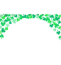 saint patricks day falling shamrocks background vector image