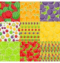 Seamless Pattern Background from Different Fruits vector image vector image