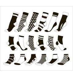 set icon colored socks vector image
