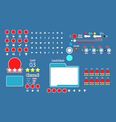 set of user interface game and application vector image