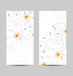set vertical banners abstract geometric vector image